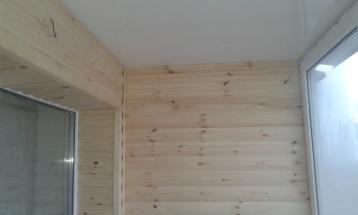 обшивка балкона блок хаус
